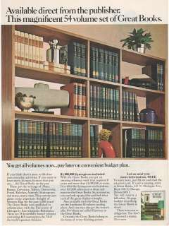 Encyclopedia Britannica   Great Books   1973 Color Picture Print AD