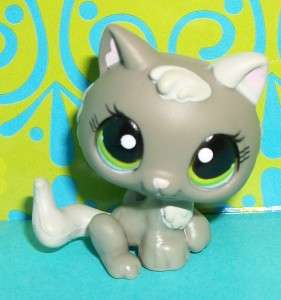 Littlest Pet Shop~#1035 GRAY BABY KITTEN/KITTY CAT Green Eyes~N144 LPS