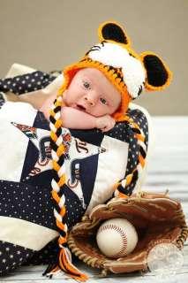 Newborn baby CUTE TIGER HAT CROCHET photo prop ♥