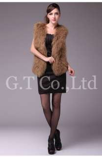 sheep fur lamb vests gilet garment waistcoats clothing vest