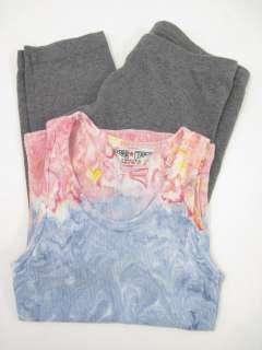 LOT 2 HARD TAIL Girls Colorful Ribbed Tank Top Pants 12