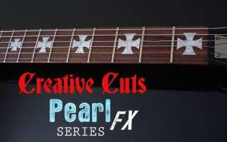 CUSTOM IRON CROSS / MALTESE MOP Decal Guitar Inlays