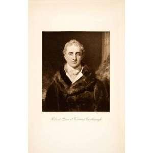 1902 Photogravure Robert Steward Viscount Lord Castlereagh