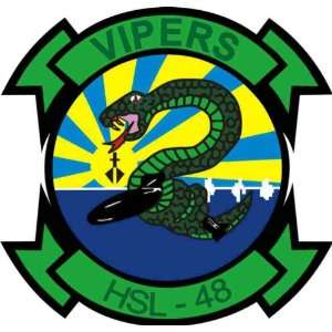 US Navy HSL 48 Vipers Squadron Decal Sticker 3.8 6 Pack