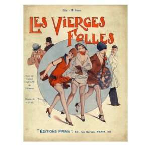 Les Vierges Folles, Magazine Cover, France, 1930 Stretched