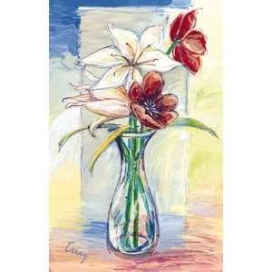 Vidrios Con Flores I Poster Print: Home & Kitchen