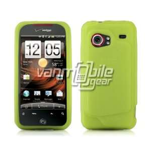 NEON GREEN SOFT SILICONE CASE + LCD SCREEN PROTECTOR + CAR CHARGER for