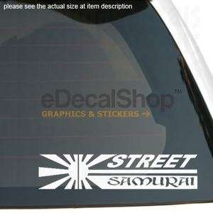 JAPANESE STREET SAMURAI RACING Vinyl Sticker Car Decal