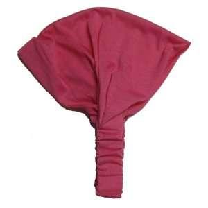 Hot Pink Solid Cotton Wide Pre Tie Headband Beauty