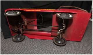 VERY RARE !! VINTAGE AMF FIRE FIGHTER PEDAL CAR !! truck GREAT