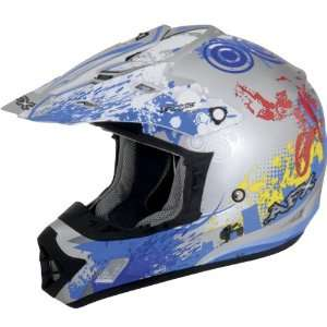 AFX FX 17 STUNT MOTORCYCLE HELMET BLUE LG Automotive