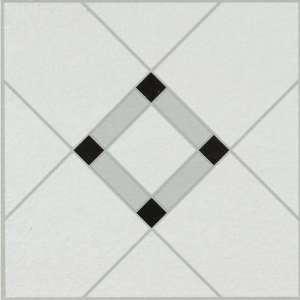 Self Stick Lattice Lane Black White Vinyl Flooring