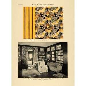 1919 Print Cotton Armure Drapery Linen Library Decor
