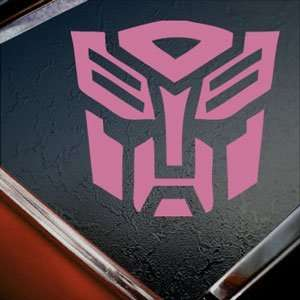 TRANSFORMERS Pink Decal AUTOBOT LOGO MOVIE Window Pink