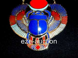 Ancient Egyptian Necklace huge Scarab OCCASION GIFT