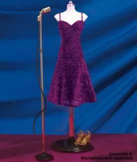 Franklin Mint  Marilyn Monroe Purple USO Dress Ensemble