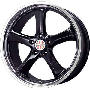 New 18X8 5 130 Victor Equip Turismo Gloss Black Machined Wheel/Rim