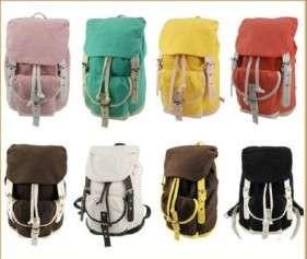 Canvas Rucksack School Backpack Bag Travel Satchel 7 Color