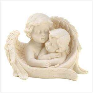 TWO ANGELIC SISTERS SHARING SECRETS FIGURINE