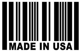 MADE IN USA Barcode Sticker USDM Vinyl Car Window Decal