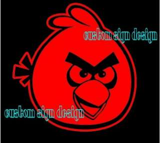 RED Angry Birds Car Window Sticker Laptop Cell Phone Skin Decal