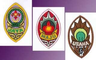 ( Gold Jaya, Silver Maju & Bronze Usaha ) Rank Award Badge SET