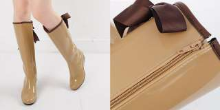 Rubber Rain Boots Wedge Shoes US5~7.5 / Ladies Knee High Boots