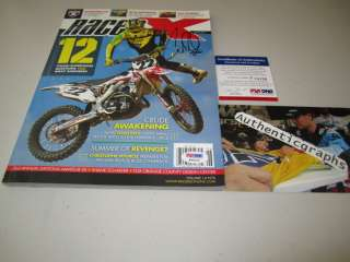 Chad Reed Signed NEW 2011 RACER X Motocross Magazine PSA/DNA PROOF
