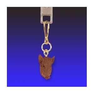 Razorback Hog Zipper Charm