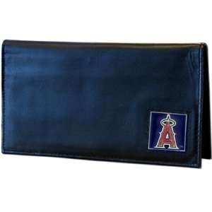 Los Angeles Angels Embossed Leather Checkbook Cover   MLB Baseball Fan