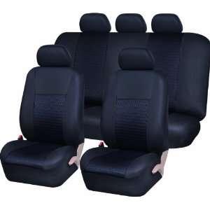 UAA SC 103BK Black Airbag Ready Universal Car Seat Cover