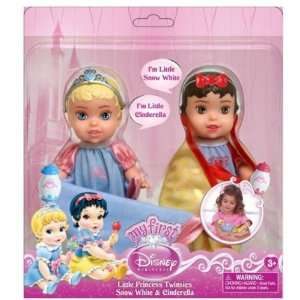 Disney Princess Twin Dolls with Blankets, Cinderella/Snow