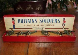 BRITAINS, MACHINE GUN SECTION & Guards Bandsmen, MINT