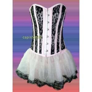 Pink Lace Overlay Corset Bustier & Tutu Skirt S size Everything Else