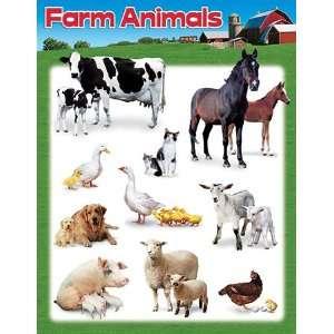 17 Pack TREND ENTERPRISES INC. LEARNING CHART FARM ANIMALS