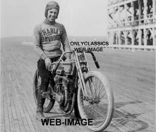 HARLEY DAVIDSON MOTORCYCLE RACING PHOTO CHICAGO RACEWAY