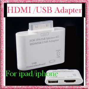 Adapter Dock Connector to HD TV For IPad2 iPhone4 4G 4S Ipod Touch 4