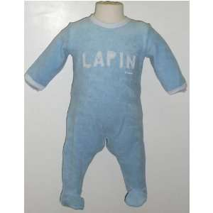 Petit Bateau Bubble letter terry cloth footie   6m: Baby