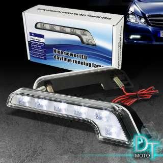 SUPER WHITE LED DAYTIME RUNNING LIGHT BENZ STYLE FOG LAMPS L SHAPE