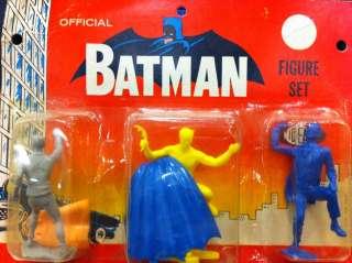 VINTAGE 1966 IDEAL BATMAN 3 FIGURE PACK MOC ROBIN JOKER