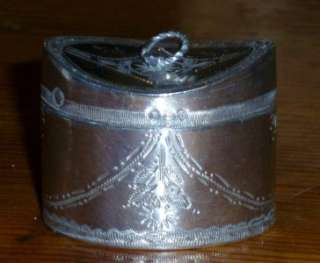 Solid Silver Dutch Tobacco / Snuff / Peppermint / Perfume Box