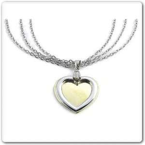 Heart Necklace with Gold and Silver Heart