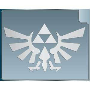 TRIFORCE LOGO #1 from the Legend of Zelda SILVER vinyl decal sticker 6