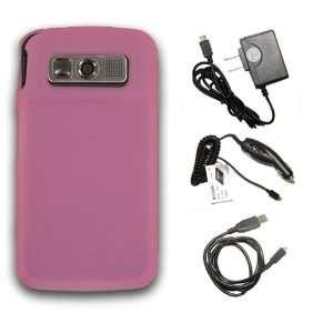 **COMBO** Samsung Code SCH i220 Pink Silicone Skin Case