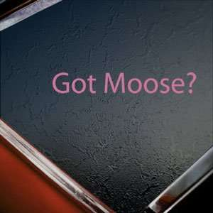 Got Moose? Pink Decal Hunt Hunting Elk Antlers Car Pink