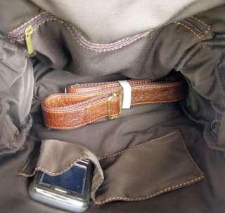 Cowboy Vintage Leather Men Travel bag Backpack Bookbag