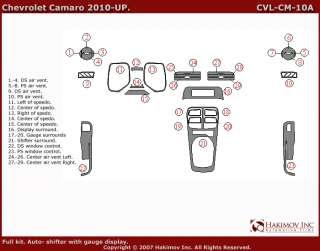 Chevrolet Camaro 10 11 Interior Brushed Aluminum Dashboard Dash Kit