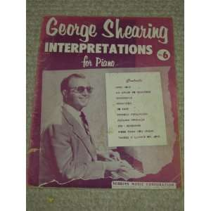 , No 6): GEORGE SHEARING, JOHN LANE, ROBBINS MUSIC CORPORATION: Books