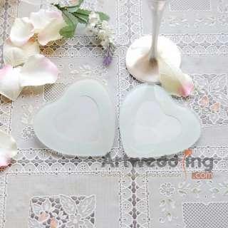4PCS Sweet Heart Shaped Glass Coasters Favor 2 SET (BD100014)