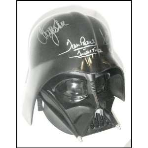 Star Wars Cast & Crew Autographed Darth Vader Replica Helmet